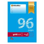 Officemax Premium Exercise Book A4 10mm 70gsm Grid 96 Pages
