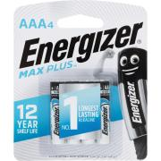Energizer Max Plus 1.5V Alkaline AAA Battery Pack 4