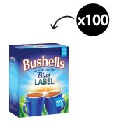 Bushells Blue Label Black Tagged Tea Bags Pack 100