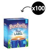Bushells Blue Label Black Tagged Tea Bags Pack 100