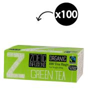 Zoetic Infusions Fairtrade Organic Green Tea Bags Pack 100