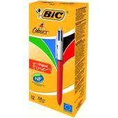 BIC Orange Retractable Ballpoint Pen Fine 0.7mm 4 Colour Box 12