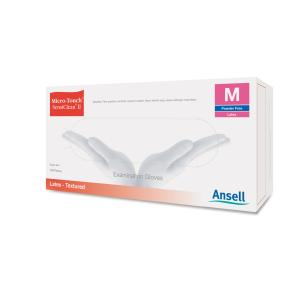 Ansell MicroTouch SensiClean II Latex Examination Glove Box 100