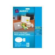 Avery 959147 White Oval Laser & Inkjet Labels Multi Purpose 18mm Pack 10