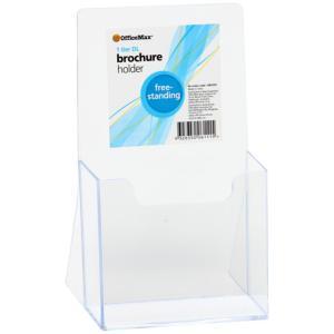 Officemax Freestanding Brochure Holder DL 1 Tier Clear