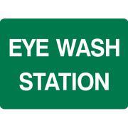 Brady 833025 Eye Wash Station Sign 180x250mm Self Adhesive Vinyl Green/White