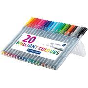 Staedtler Triplus Fineliner Pen Extra Fine 0.3mm Assorted Colour Multi-Pack Set 20