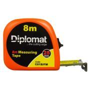 Diplomat 8M Tape Measure Fluoro Casing  25mm