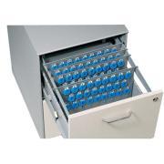 Telkee Suspension File Key Panel - 100 Key Capacity and 4 Key Lock Grey