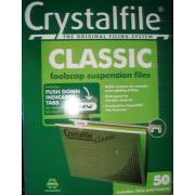 Crystalfile 111130C Suspension File Foolscap Green Box 50