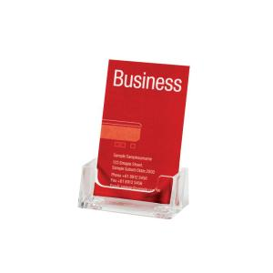 Esselte Business Card Holder Free Standing Portrait Single Staples