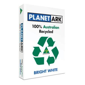 Planet Ark Copy Paper 100% Recycled 80gsm A4 White Ream 500 Box 5