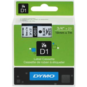 Dymo D1 Label Printer Tape 19mmx7m Black On White