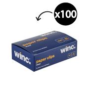 Winc Steel Paper Clip 50mm Box of 100