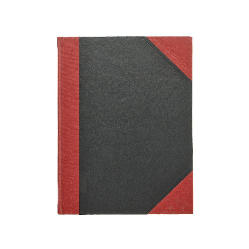 Cumberland Notebook Hardcover Ruled A5 200 Page Red & Black