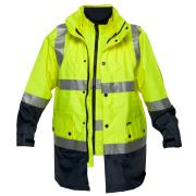 Prime Mover HV888-7 4-In-1 Anti-Static Day/Night Jacket With Tape Yellow/Navy