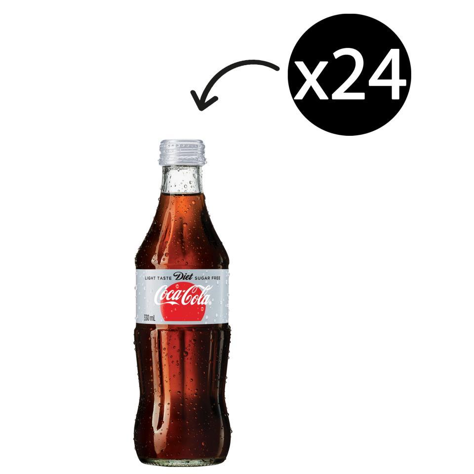 Diet Coca Cola 330ml Bottle Carton 24