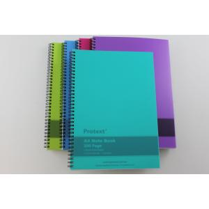 Protext Nb2100 Notebook A4 Twin Wire Poly 200 Page Aqua