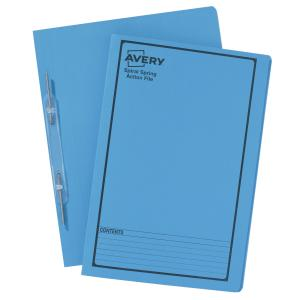 Avery Blue Spiral Spring Action File with Black Print - Foolscap - 355 x 241 mm - 5 Files