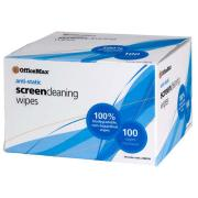 Officemax Anti-static Screen Cleaning Wipes Pack 100