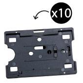 Rexel Card Holder Adjustable Pocket Clip Black Pack 10