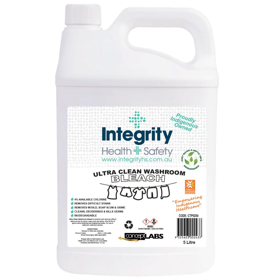 Integrity Health & Safety Indigenous Bleach 5 Litre Bottle