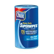 Chux 9305B Heavy Duty Superwipes 45m Roll 56x30cm Blue