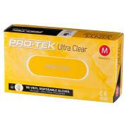 Protek Ultra Clear Vinyl Glove Powdered Clear Box 100