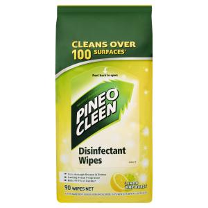 Pine O Cleen Surface Wipes Lemon Lime 90Pk Yellow