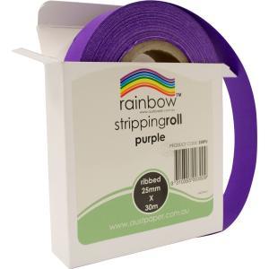 Rainbow Stripping Streamer Roll 25mmx30mm Purple