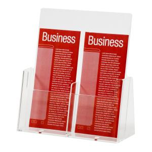 Esselte Brochure Holder 2 Compartments DL Clear