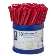 Staedtler Stick 430 Medium Ballpoint Pen Red Cup 50