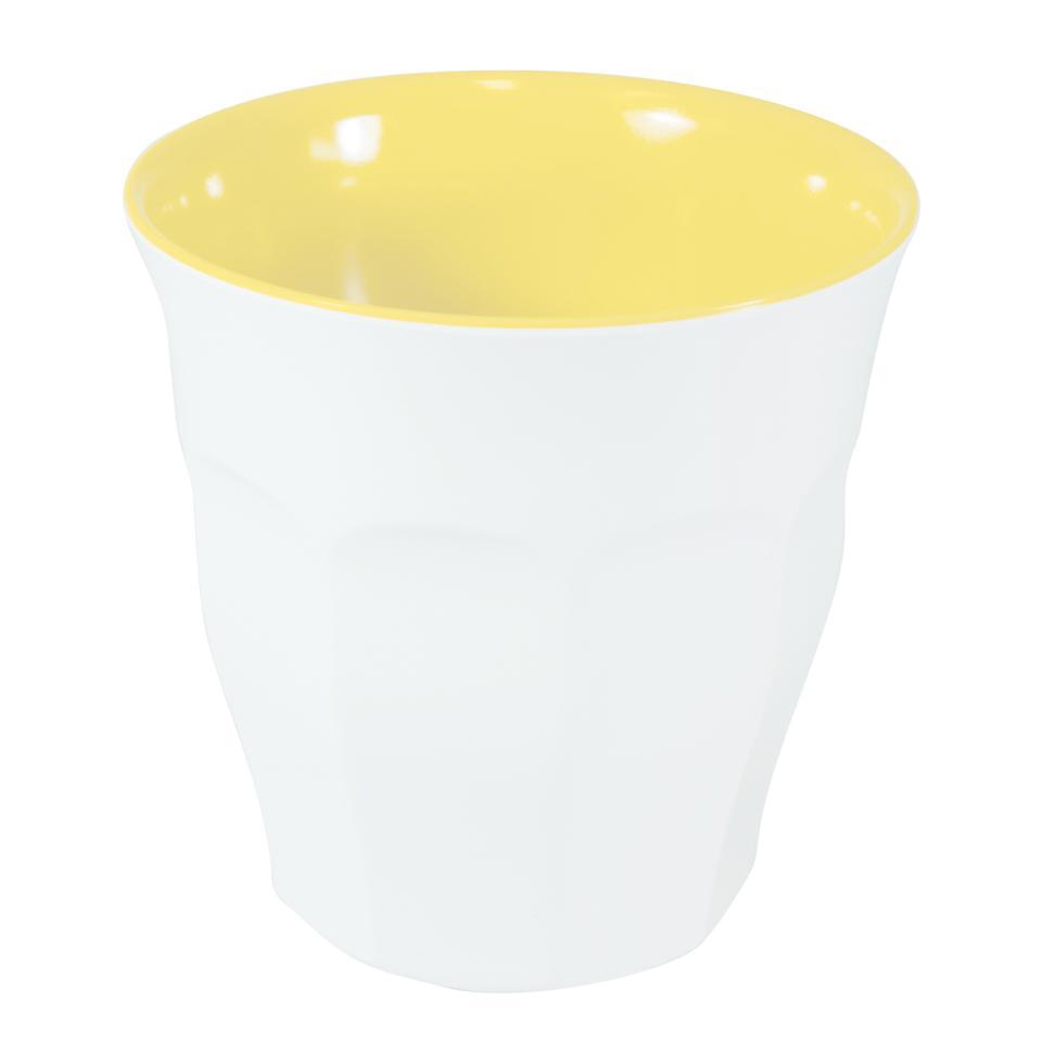 Jab Design Sorbet Melamine Tumbler 300ml Lemon/White Box 12
