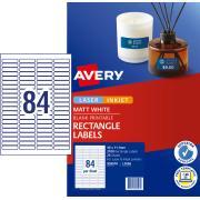 Avery Permanent Multi-purpose Labels - 46 x 11.11mm - 2100 Labels (L7656)