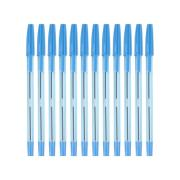 Simply Tinted Stick Ballpoint Pen Medium 1.0mm Blue Box 12