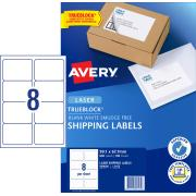 Avery Shipping Labels with TrueBlock for Laser Printers - 99.1 x 67.7mm - 800 Labels (L7165)
