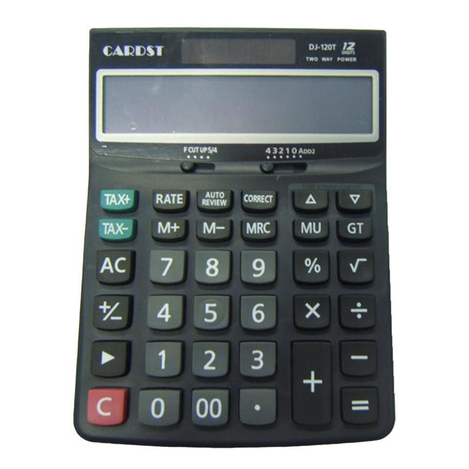 Premier Stationery Desktop Calculator 12 Digit Dual Power