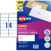 Avery Address Labels with Quick Peel for Inkjet Printers - 99.1 x 38.1mm - 700 Labels (J8163)