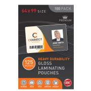 GBC 125 Micron Gloss Laminating Pouches 64 x 99 mm 100 Pack