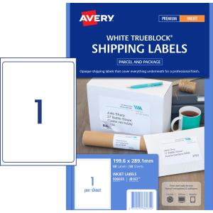 avery shipping labels with trueblock for inkjet printers 199 6 x