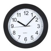 Carven Round Clock Plastic Face
