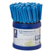 Staedtler Stick 430 Medium Ballpoint Pen Blue Cup 50