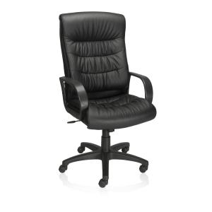 Winc Ambition Canteshire Executive Chair with Fixed Loop Arms Black PU