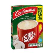 Continental Cup-A-Soup 70g Cream Of Mushroom Pack 4