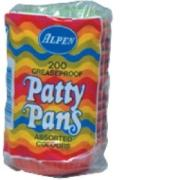 Patty Pans Asstd Colours Pkt 200