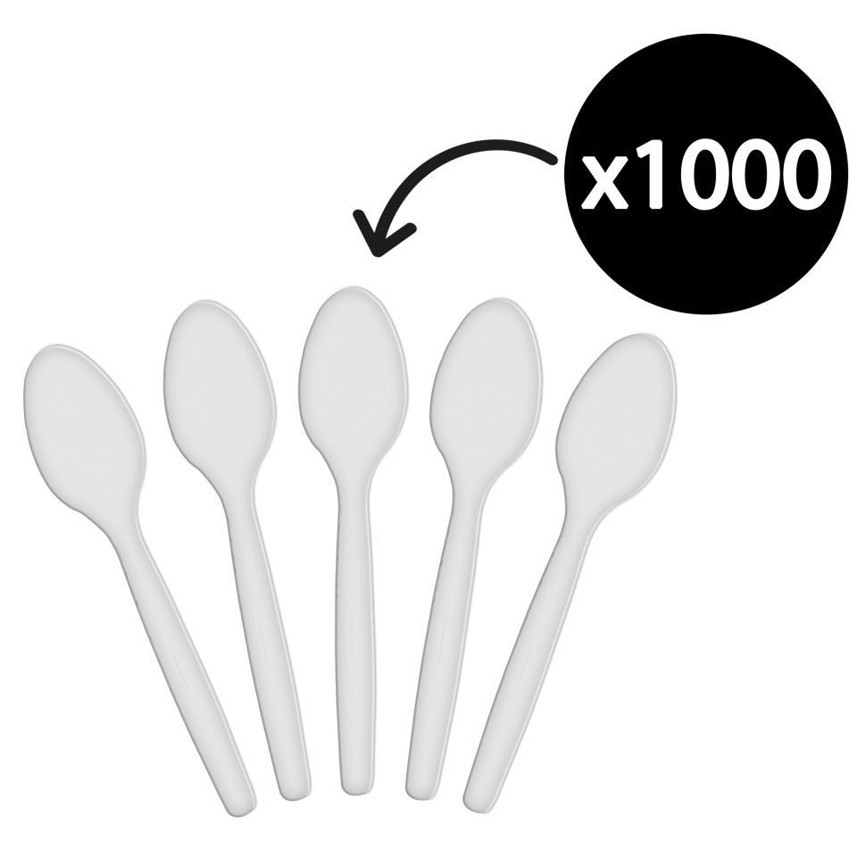 Costwise Plastic Teaspoon White Carton 1000