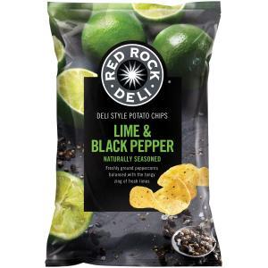 Red Rock Deli Chips Lime & Black Pepper 165g   Staples