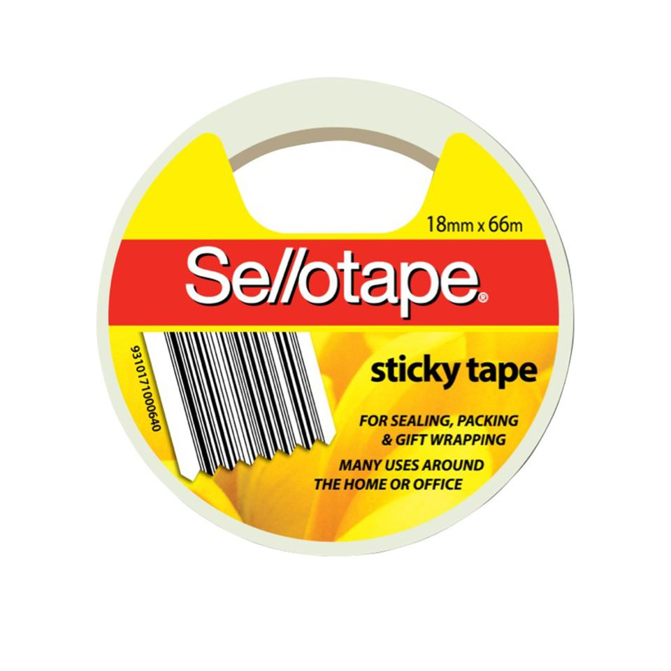 Sellotape Sticky Tape 18mm X 66m Roll