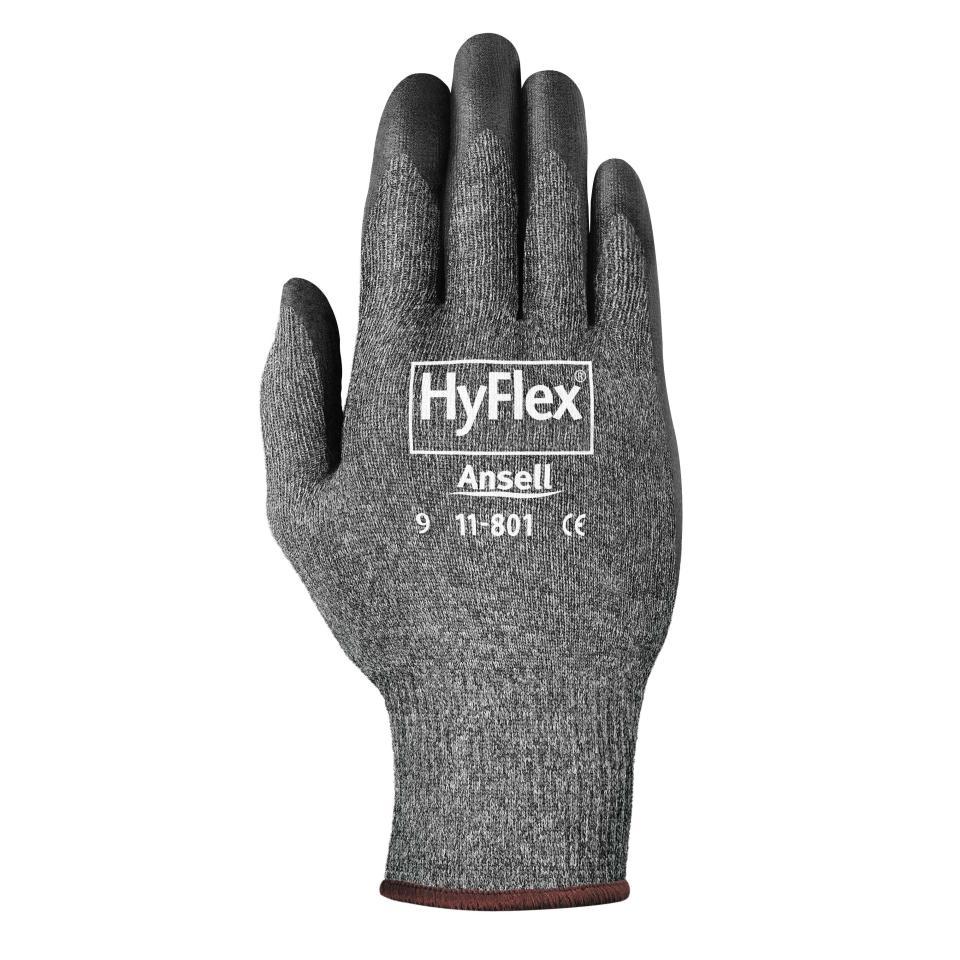 Ansell 11-801 Hyflex Foam Nitrile Gloves Grey Pair