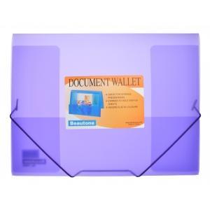 Beautone Cool Frost Document Wallet A4 3 Flap Purple Image
